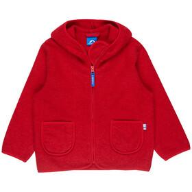 Finkid Tonttu Wool Zip-In Fleece Jacket Kids Red Melange